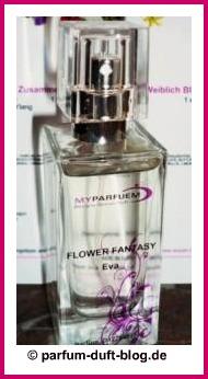 Selbst gemachtes Parfüm mit Blumenduft