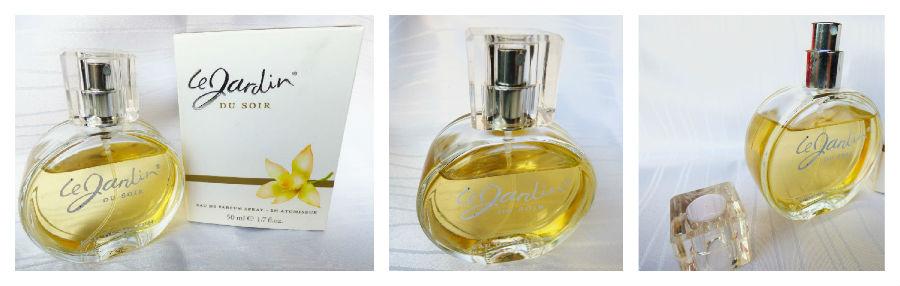 "Eau de Parfum ""Le Jardin Du Soir"" - Flakon und die Verpackung"